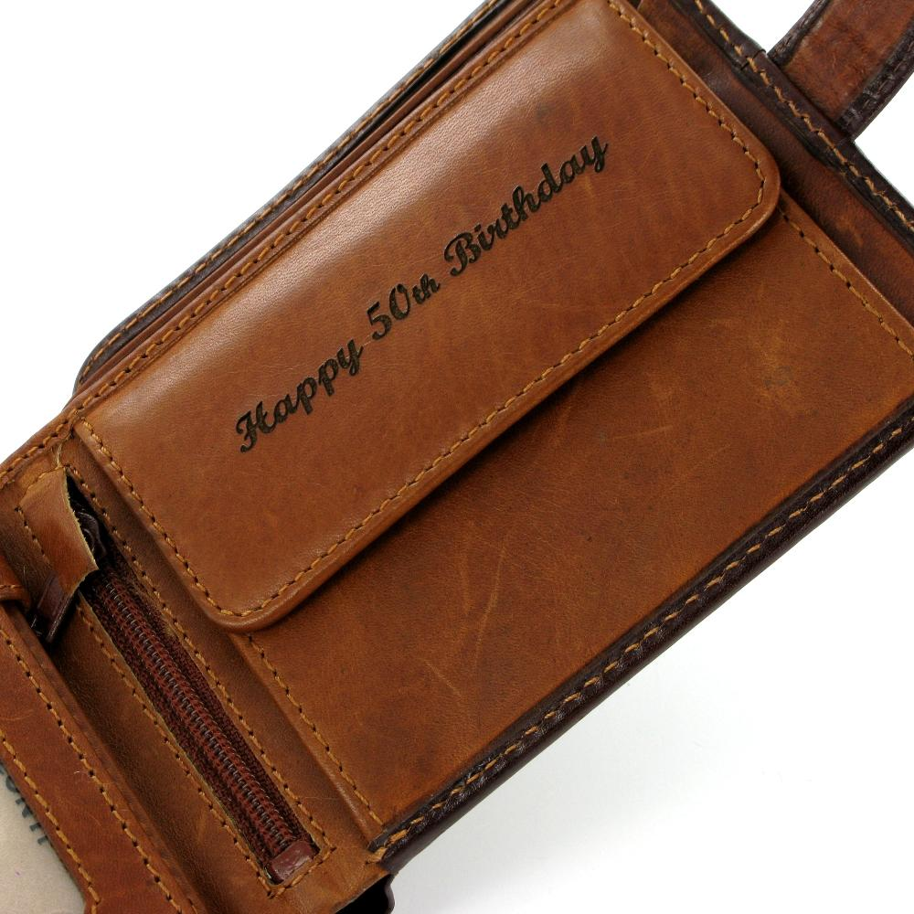 Visconti Torino TR35 Atlantis Brown & Tan Leather Wallet