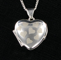 "Multi Heart Locket & 16"" Curb Chain"
