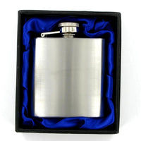 Hip Flask 3oz Brushed Steel