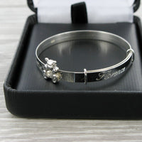Teddy Bear Expanding Bangle with Presentation Box