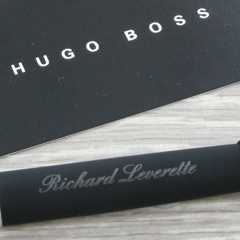 Hugo Boss Ballpoint Pen, Loop Smooth Black