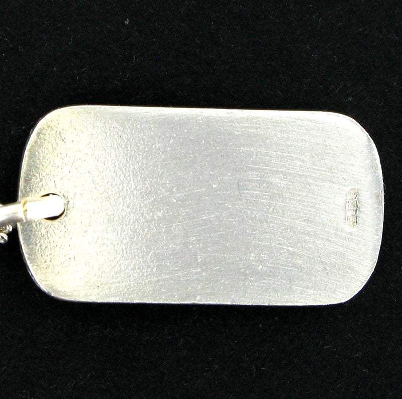 "Medical Alert Dog Tag with 20"" curb chain"