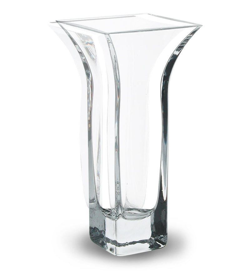 Nobile Clear Flared Vase - 26.5cm