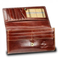 Visconti Monza MZ10 Florence Italian Brown Leather Purse