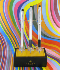 Cross Century II Lustrous Chrome Pen Set 3 Personalised
