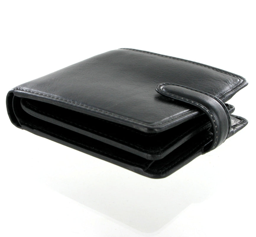Visconti Tuscany TSC42 Luxury Black Leather Wallet RFID