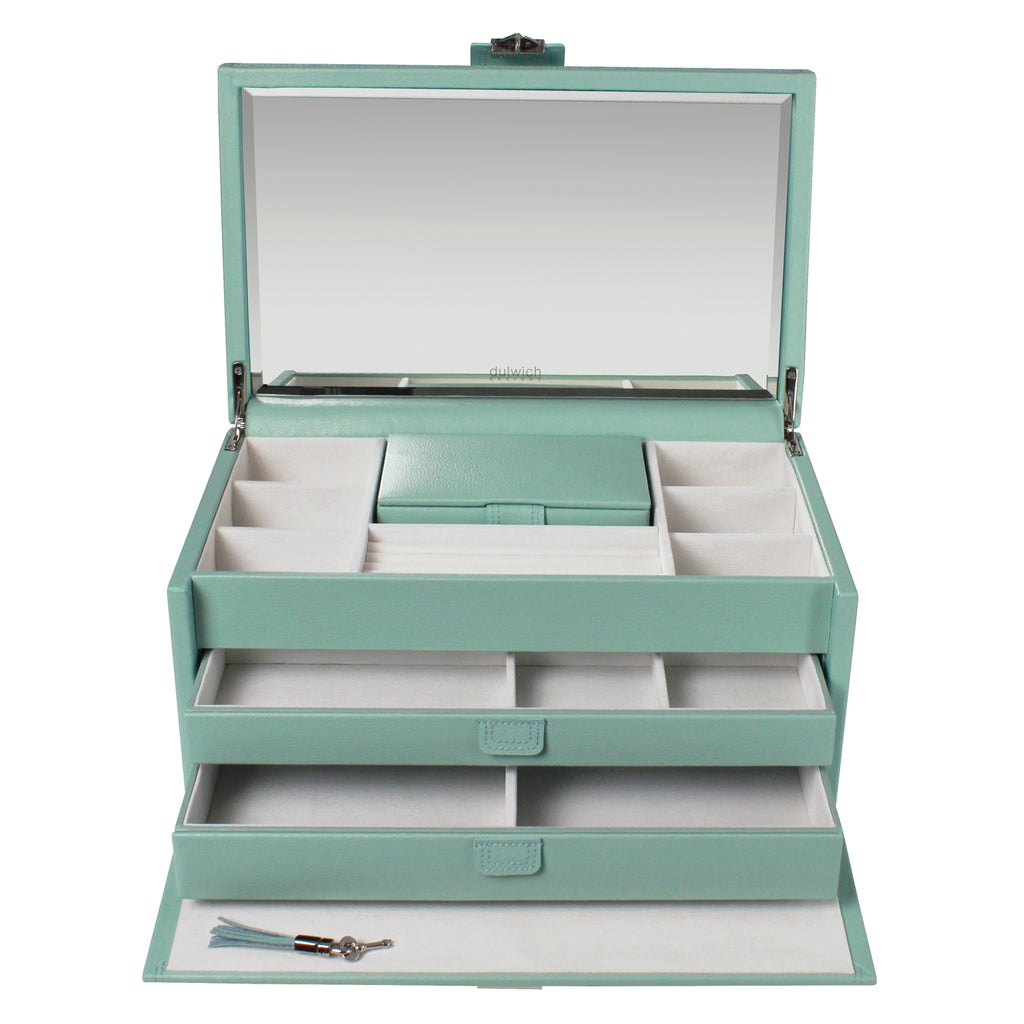 Dulwich Designs Mayfair Extra Large Jewellery Box 71040 Duck Egg