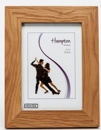 "New England Solid Oak Wood 7"" x 5"" Portrait Photo Frame by Hampton"