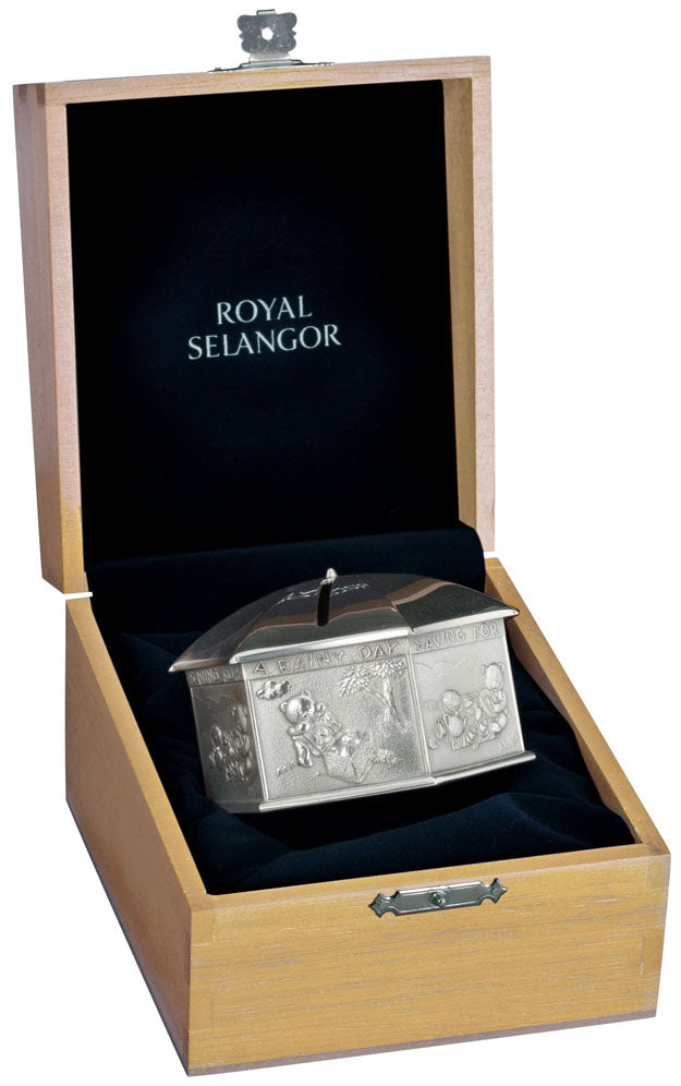 Royal Selangor Coin Box with Wooden Case OE0634