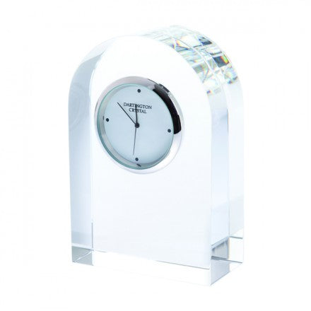 Dartington Crystal Small Clear Curve Clock