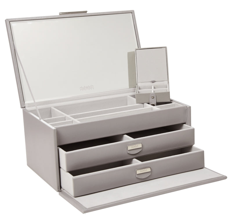 Dulwich Designs Notting Hill Grey Large Jewellery Box 71176