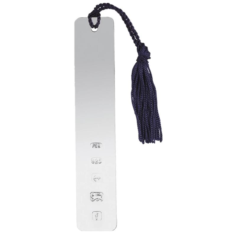 Long Solid Silver Bookmark with Tassle