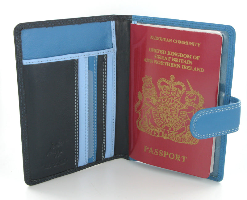 Visconti Rainbow Passport Holder RB75 Blue Multi