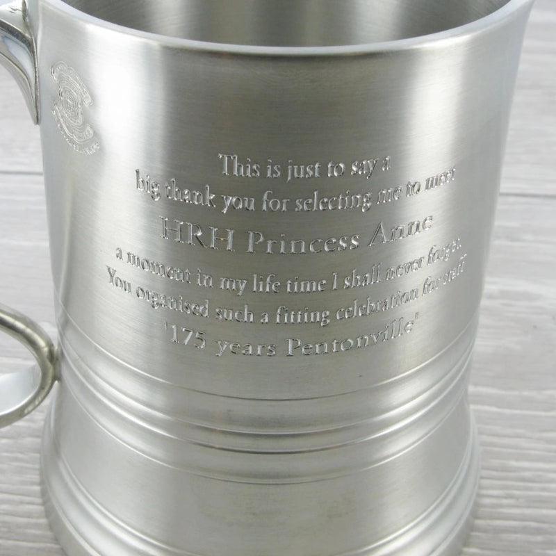 Royal Selangor Eton Tankard with Glass Bottom & Wooden Case 92178G