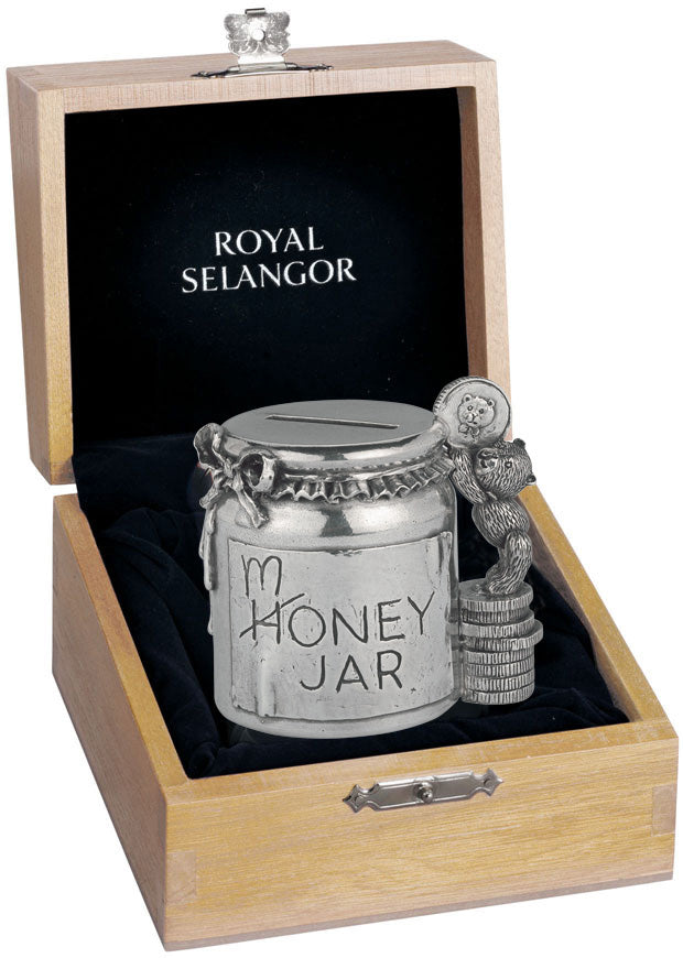 Royal Selangor Money Jar Coin Box with Oak Presentation Box oe0743
