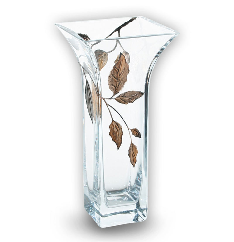 Nobile Gold Leaf Flared Vase - 22.5cm
