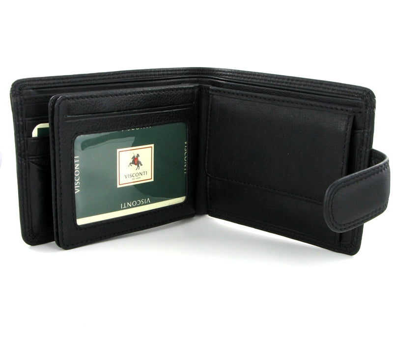 Visconti Heritage HT13 Strand Black Leather Wallet