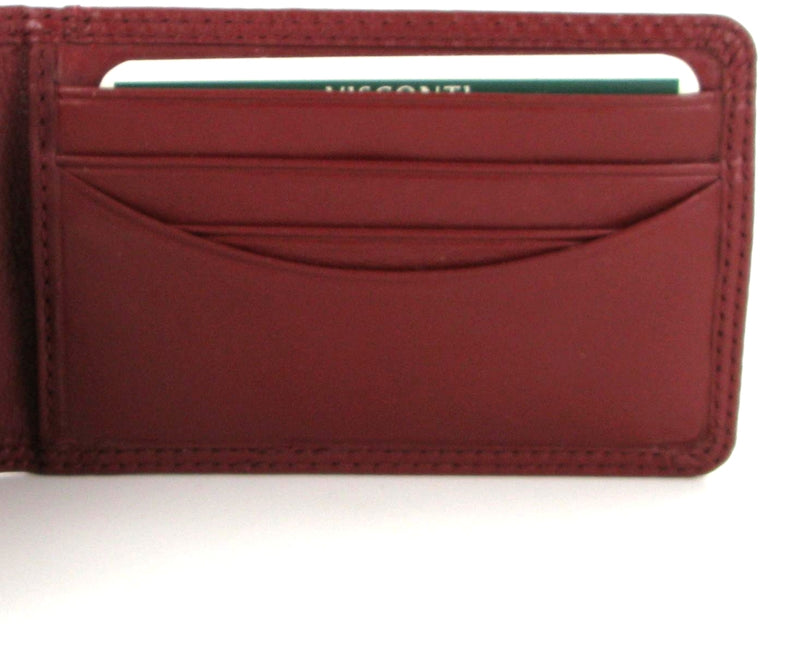 Visconti Heritage HT5 Nelson Soft Red Leather Credit Card Holder