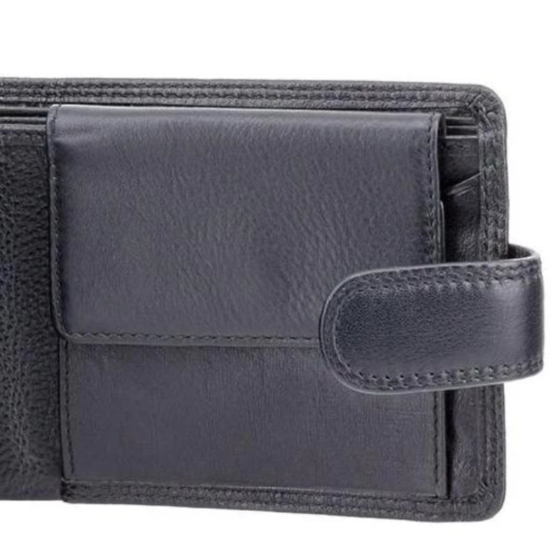 Visconti Heritage HT10 Knightsbridge Soft Black Leather Wallet