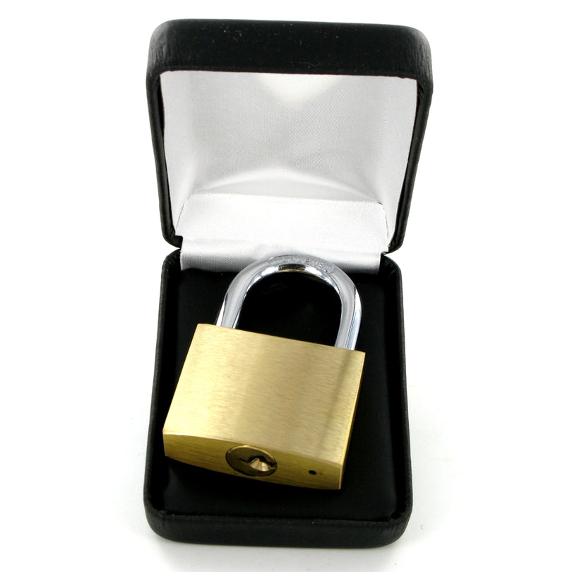 Love Lock Engraved Medium Padlock & Keys