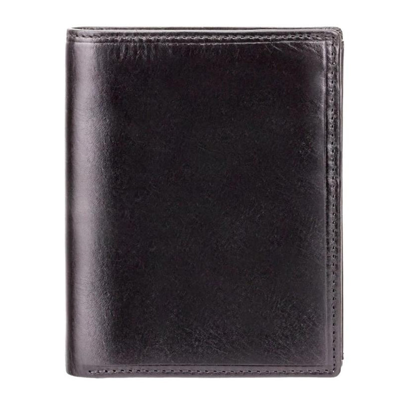 Visconti Monza MZ3 Milan Italian Black RFID Leather Wallet