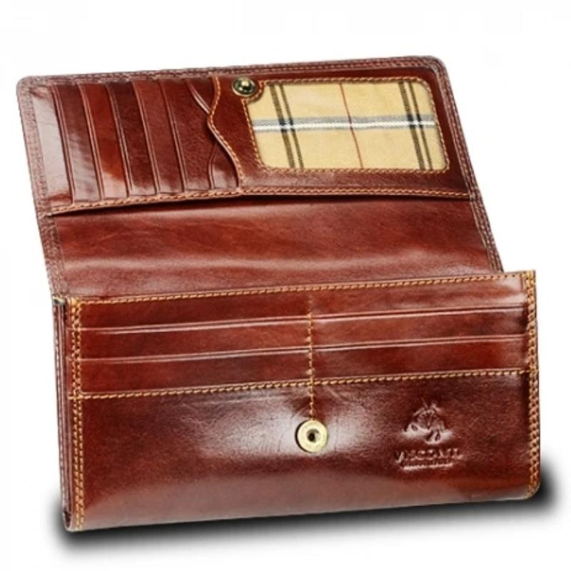 Personalised Italian Brown Leather Purse - Visconti Monza MZ10 Florence