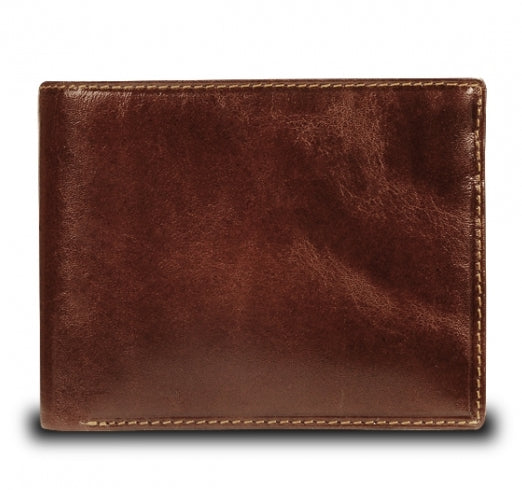 Visconti Monza MZ4 Lazio Italian Brown RFID Leather Wallet