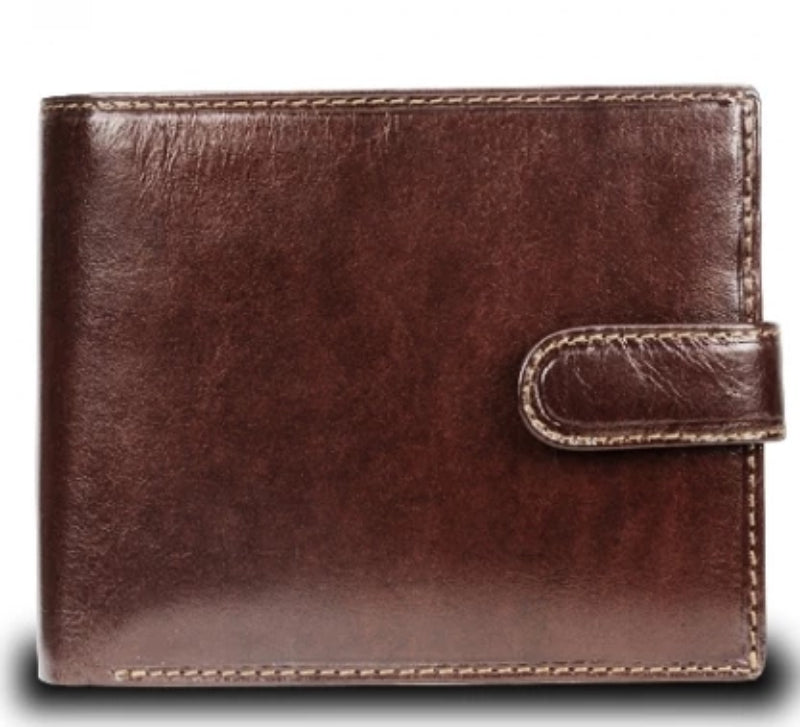 A Visconti Monza MZ5 Rome Italian Brown RFID Leather Wallet