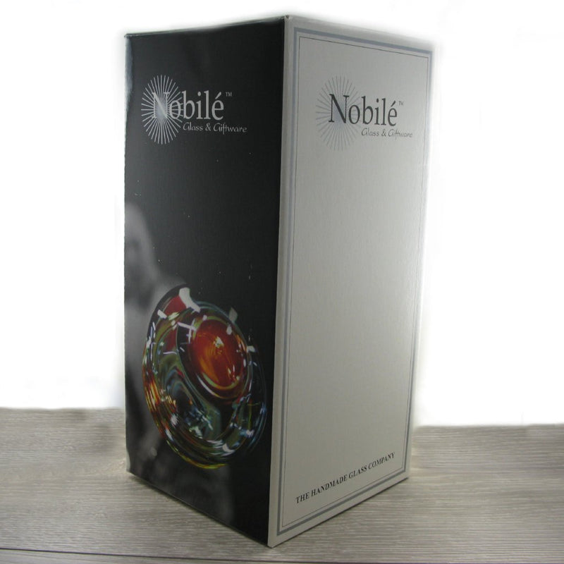 Nobile Silver Leaf Flared Vase - 22.5cm