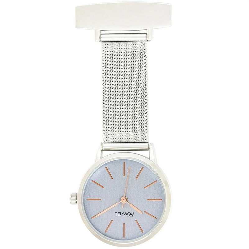 Engraved Nurse Fob Watch Mesh Rose Gold Dial R1101.21