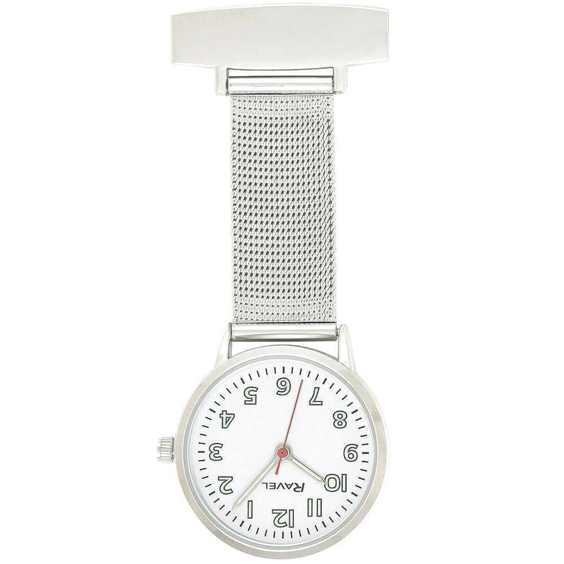 Engraved Nurse Fob Watch Mesh White Dial R1101.22