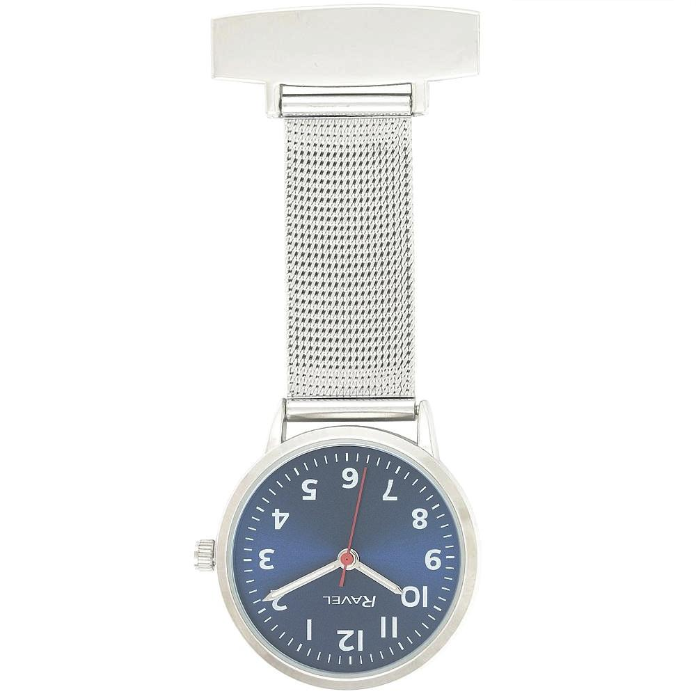 Engraved Nurse Fob Watch Mesh Blue Dial R1101.23