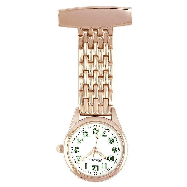Engraved Nurse Fob Watch Rose Gold Slim Ravel R1101.42