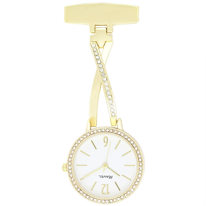Engraved Nurse Fob Watch Gold Diamante Kriss Kross  R1106.02
