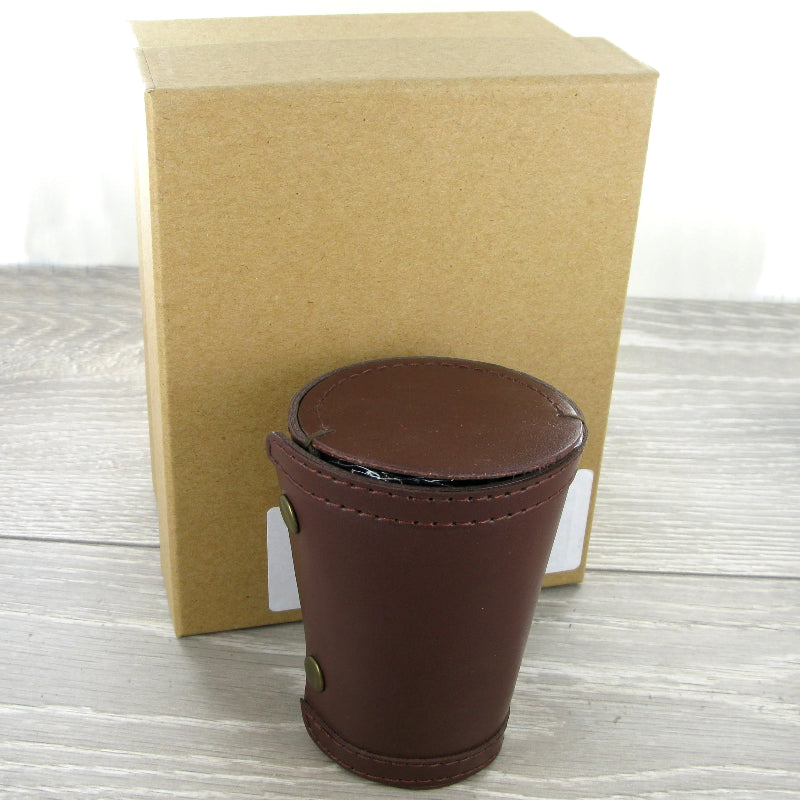 Shooting Cups & Leather Case R3387