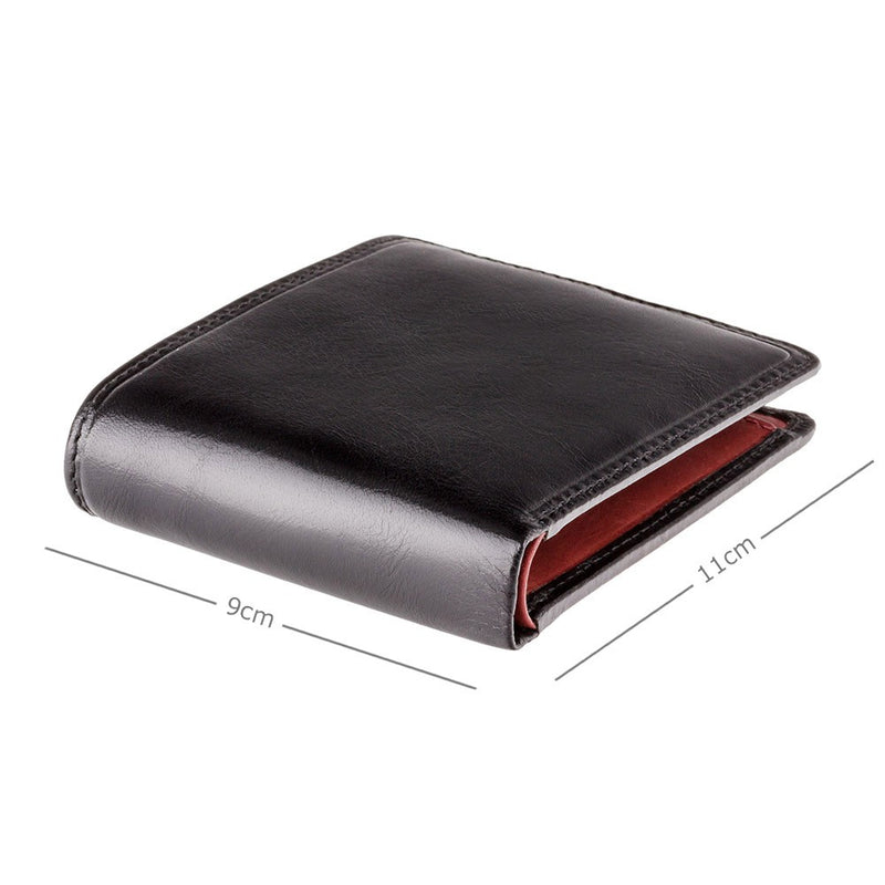 Visconti Torino TR30 Raffle Black & Red Leather Wallet