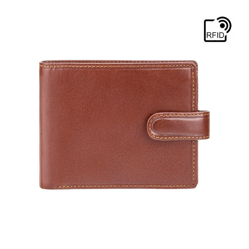 Visconti Monza MZ5 Rome Italian Brown Leather Wallet with RFID