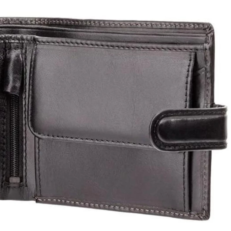 Visconti Monza MZ5 Luxury Italian Black Leather Wallet with RFID