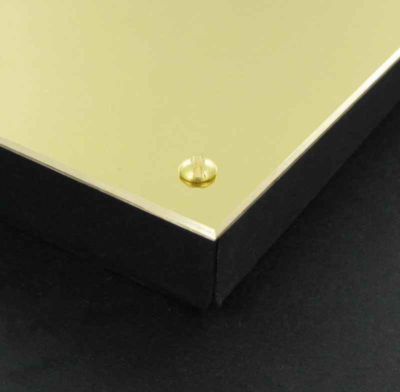 "Polished Brass Plate 8"" x 6"""