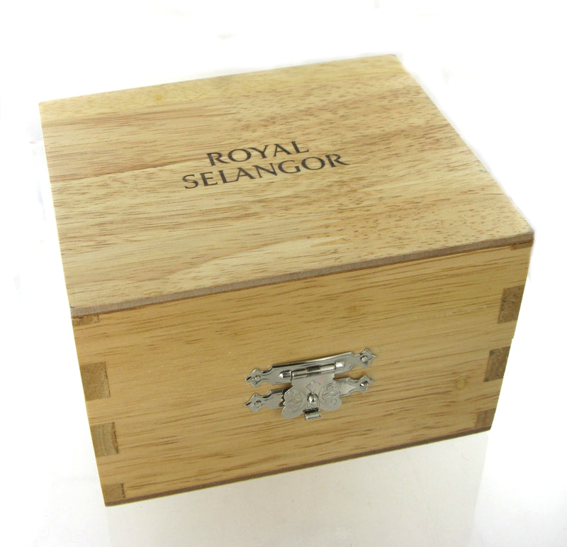 Royal Selangor Teddy Tankard with Wooden Oak Case OE0632