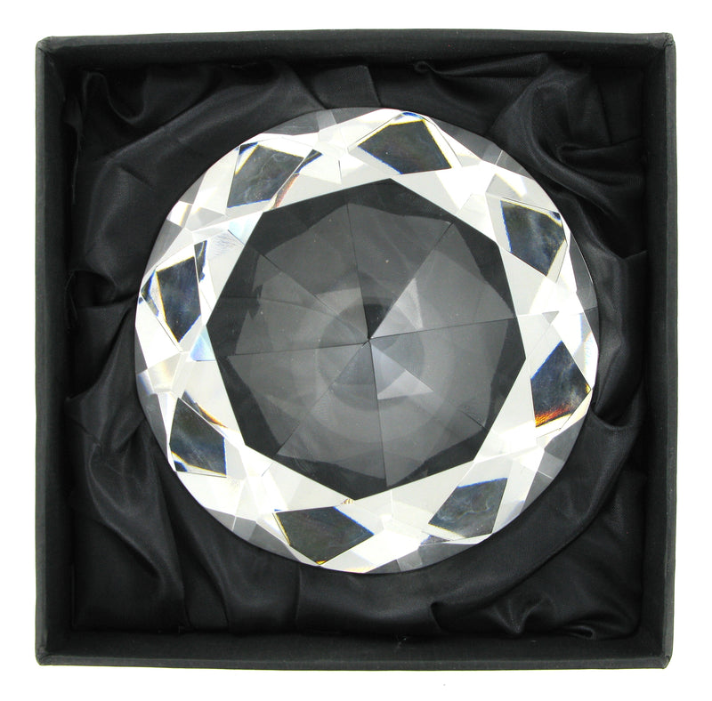 "Glass Diamond Large 5"" Diameter with Free Engraving"