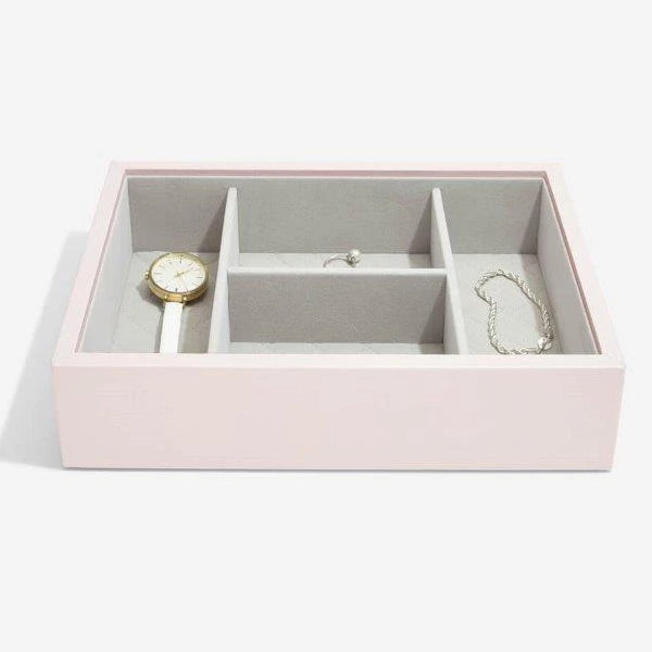 Stackers Blossom Pink Leather Jewellery Box Set3 75459
