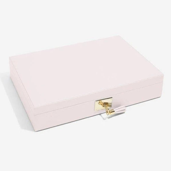 Stackers Jewellery Boxes 75449 Blossom Pink Leather Lidded