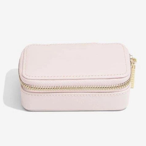 Stackers Blossom Pink Leather Travel Jewellery Box 75452