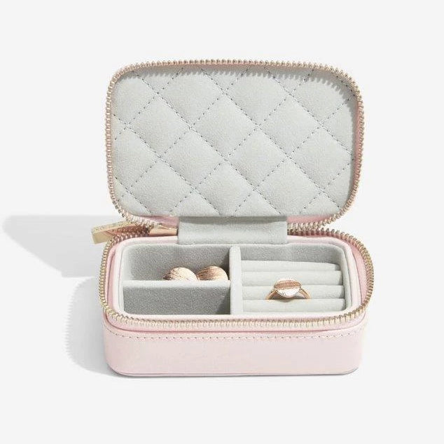 Stackers Blossom Pink Leather Travel Box 75452 Personalise the Top with Laser Engraved Message