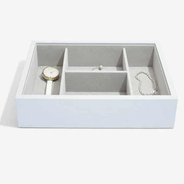 Stackers Powder Blue Leather Jewellery Box Set2 75454