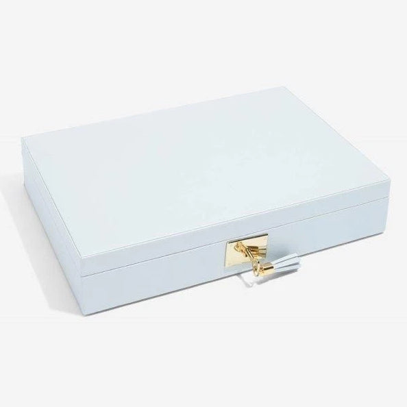 Stackers Powder Blue Leather Jewellery Box Set3 75458