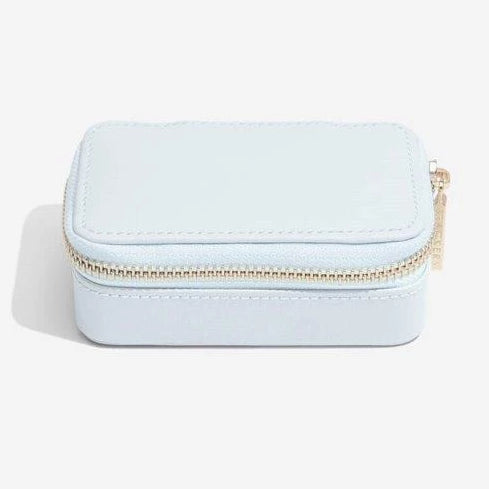 Stackers Powder Blue Leather Travel Jewellery Box 75448