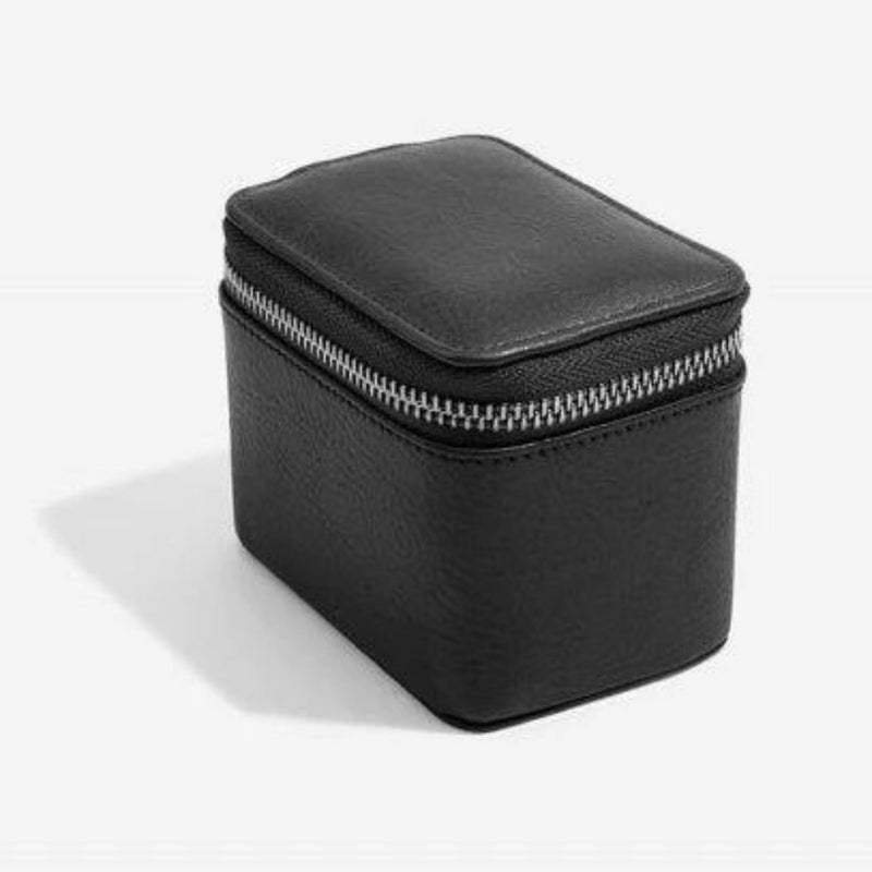 Stackers Black Small Travel Watch Box 75395 Vegan Leather