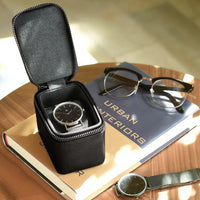 Stackers Black Small Travel Watch Box 75395 Personalise the lid with Laser engraved message